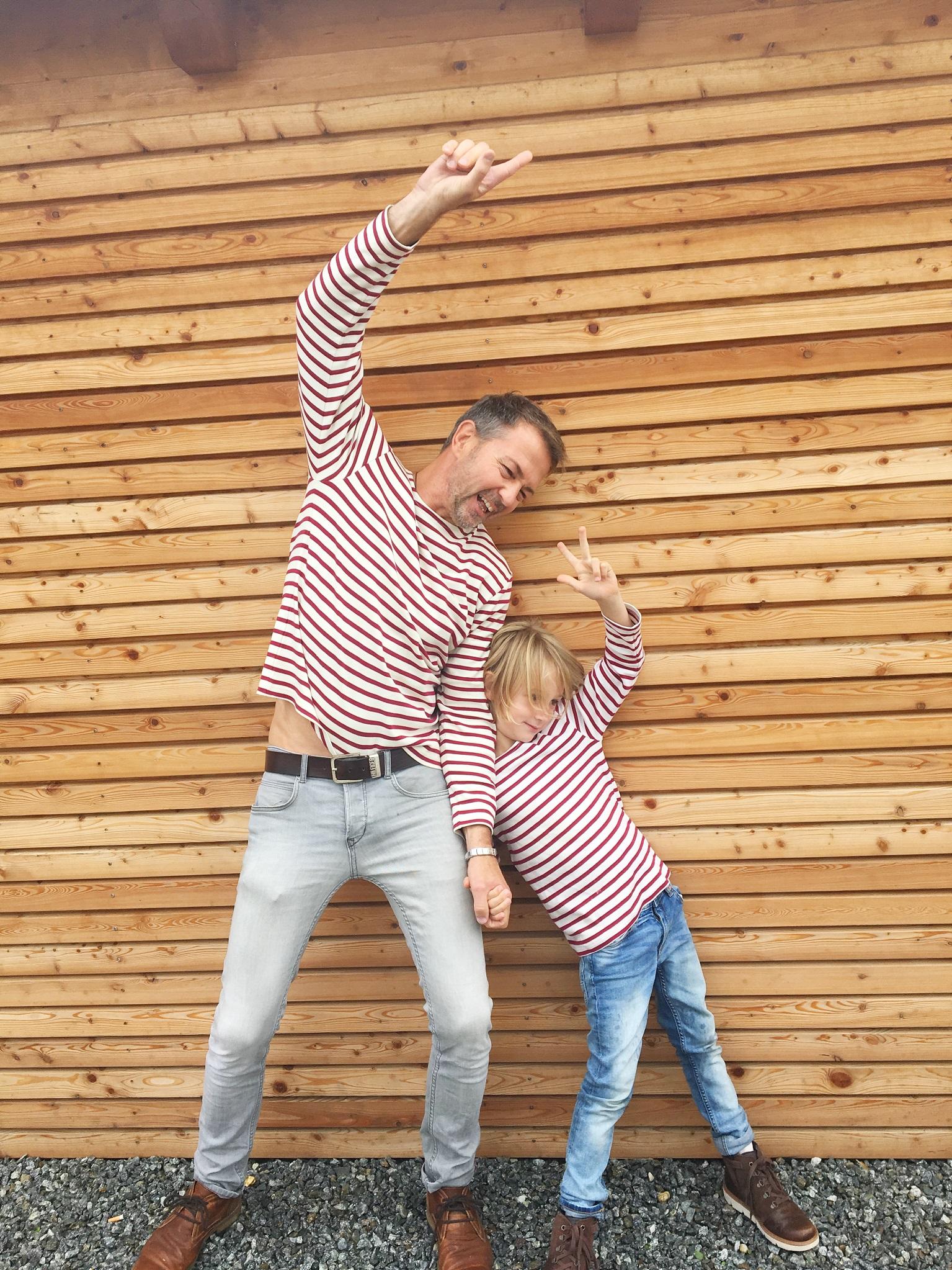 Partnerlook für Papa und Sohn. Spass an Mode.