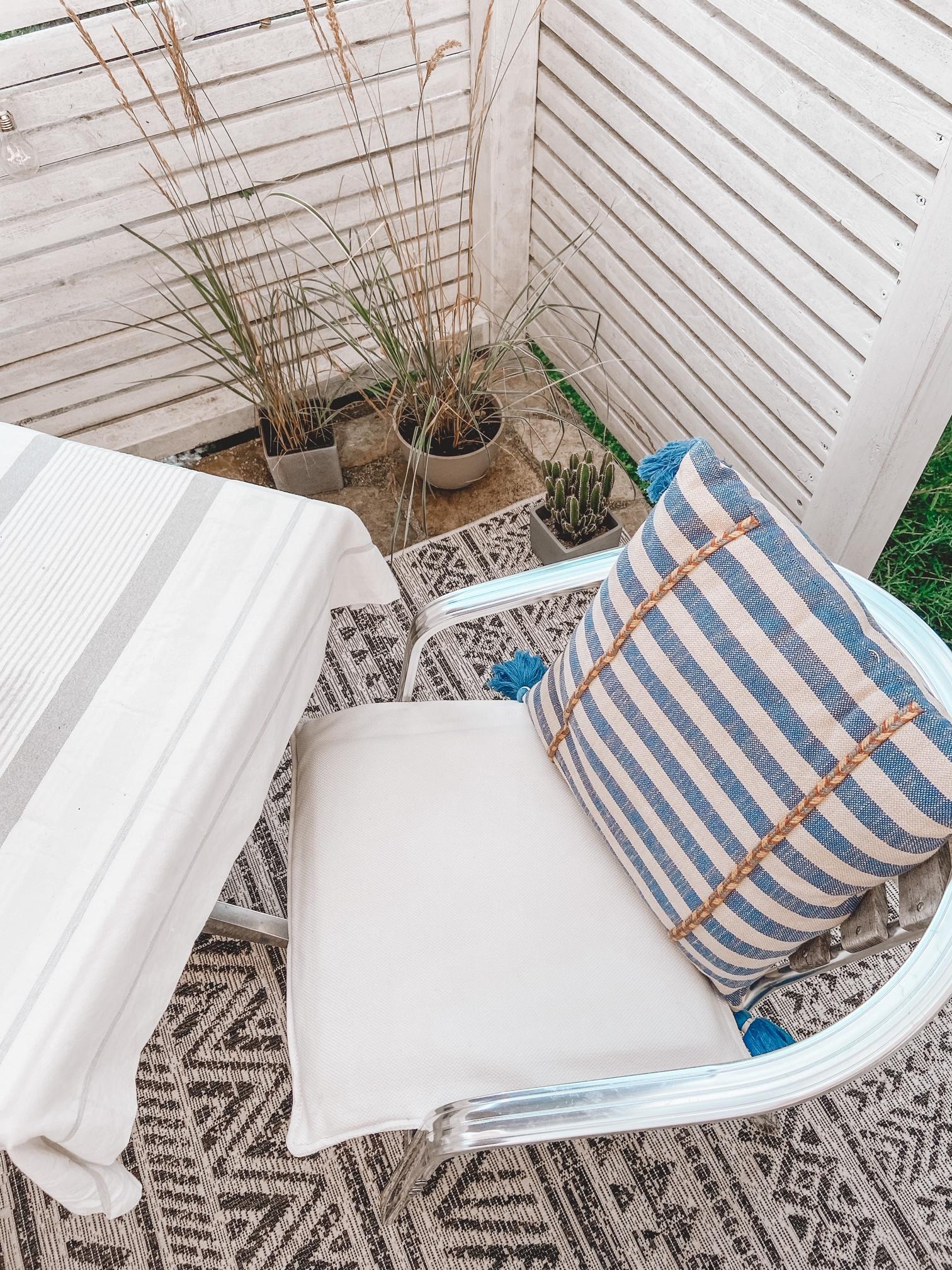 Terrasse im Boho Style